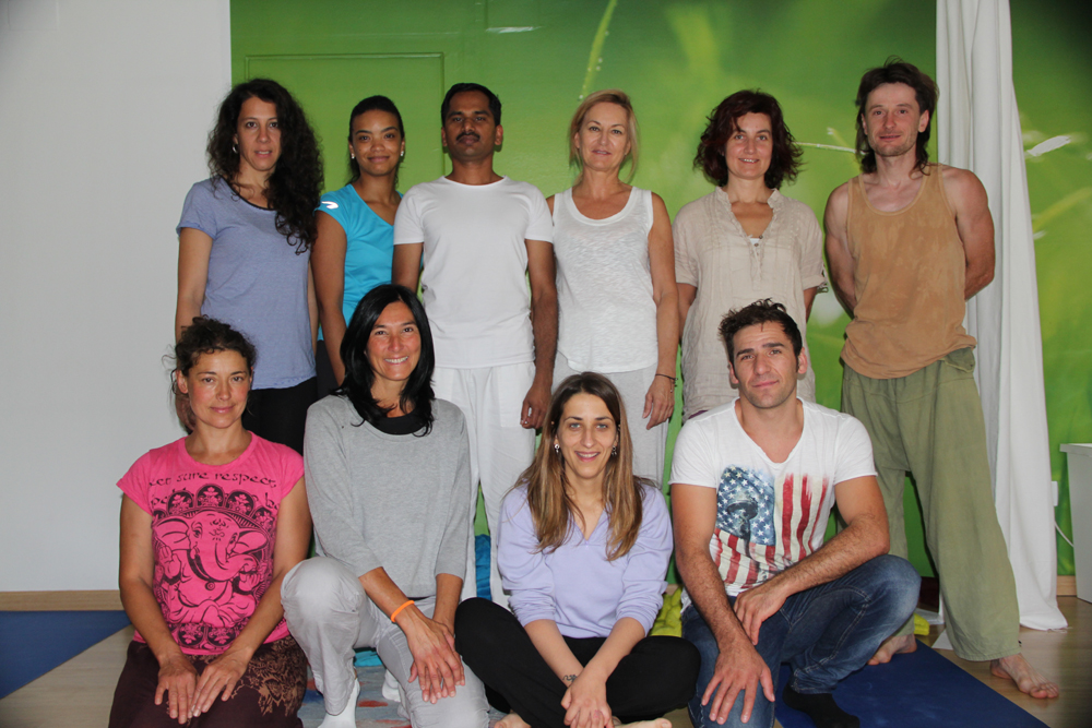 First class of yoga teachers in La Seu