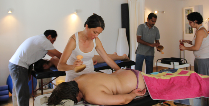 Pindas massage during the course