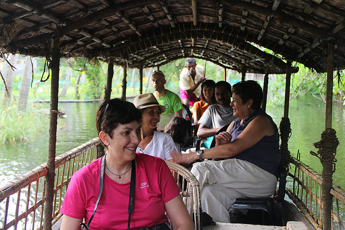 Boat ride on backwaters of rivers