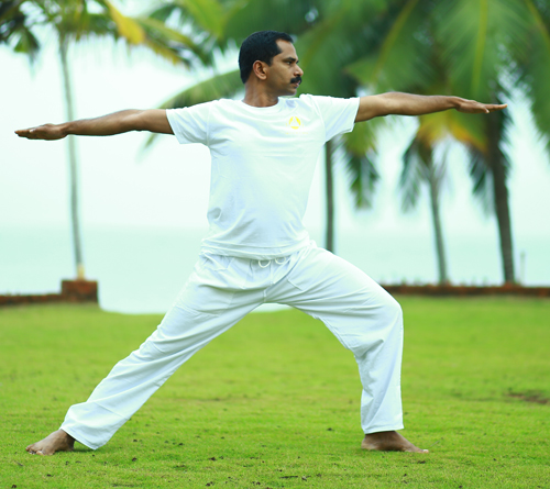 Yoga teachers training with Indian